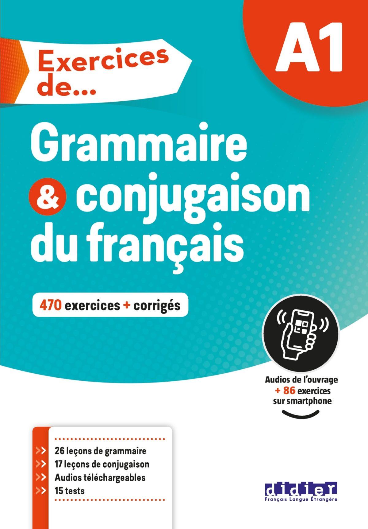 Exercices de Grammaire et conjugaison A1 - Livre - Didier FLE